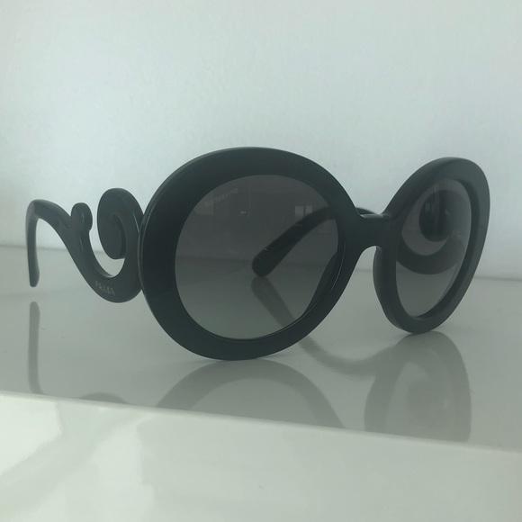 8e217013906 Prada Black Round Sunglasses Pr27ns